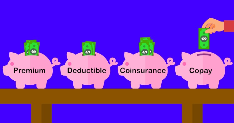 Premium, deductible, copay, coinsurance
